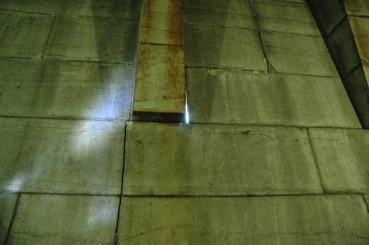 The earthquake cracked portions of the Washington Monument, as well as displacing some limestone blocks.