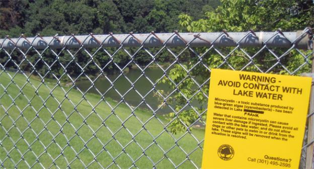 "Officials hastily added ""Frank"" to a copy of a sign used at nearby Lake Needwood."