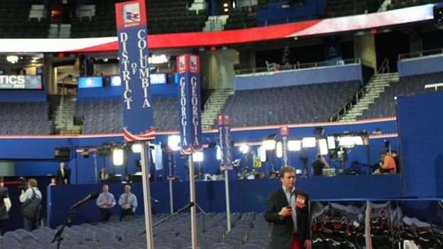 D.C. GOP delegates' section at the Republican National Convention in Tampa.