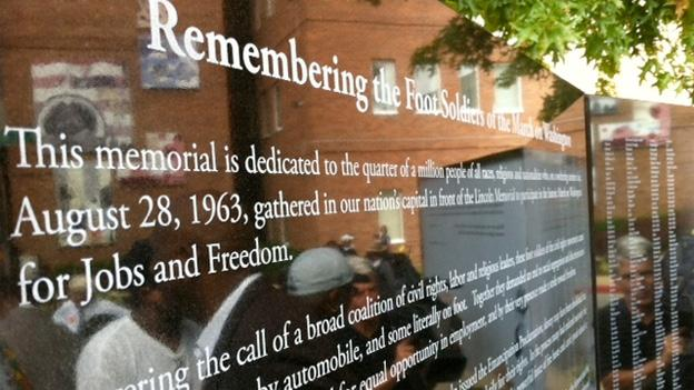 The memorial remembering the 'foot soldiers' of the March on Washington is housed at Annapolis Whitmore Park.
