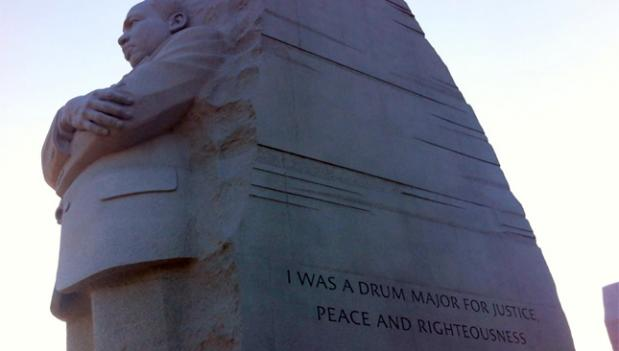 Poet Maya Angelou, amongst others, took issue with the paraphrasing used on the memorial to Martin Luther King Jr.