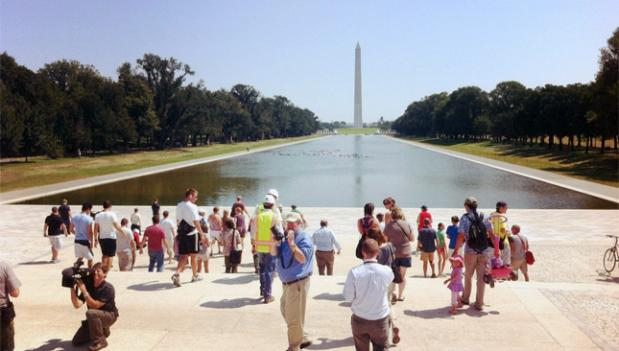 The reflecting pool on the National Mall has finally been reopened after two years.