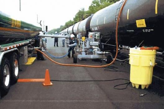 Norfolk Southern owns the rail yard where liquid ethanol is pumped from trains to tankers.