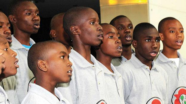 Members of the boys choir of the Holy Trinity Episcopal Cathedral in Haiti will perform at the Smithsonian Museum of African Art.