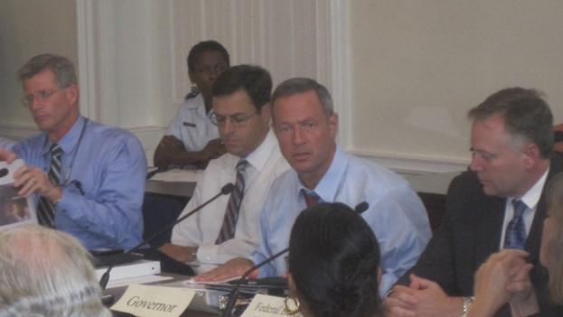 Maryland governor Martin O'Malley speaks during a cabinet meeting at the state house in Annapolis.