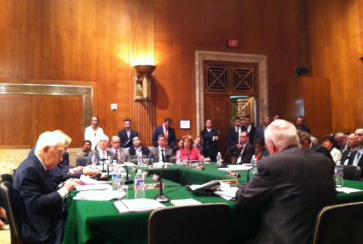 The Senate Appropriations Subcommittee on Homeland Security meets to discuss disaster funding.