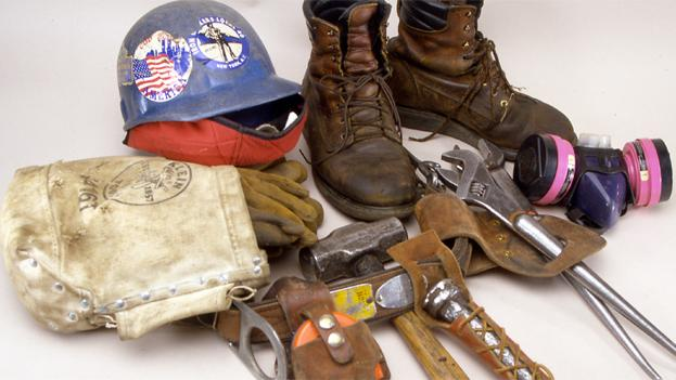 Tools used by iron worker, James Connor to remove debris at the World Trade Center between September 2001 and January 2002.