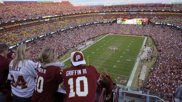 Fans fill the stadium in this general view of FedExField during the second half of an NFL football game with the Washington Redskins and the Minnesota Vikings Sunday, Oct. 14, 2012, in Landover, Md.