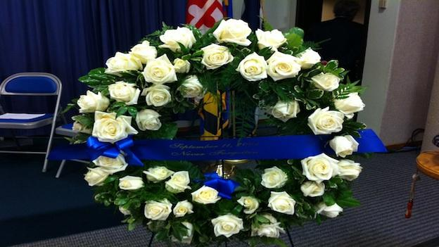 Montgomery County leaders will be laying wreaths and roses on the memorials to 11 residents who died on 9/11.