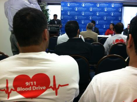 The Ahmadiyya Muslim Community is holding a 9/11 blood drive next week, aimed at collecting 10,000 pints for the Red Cross.