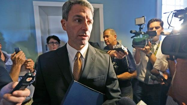 Former Virginia attorney general Ken Cuccinelli said he defended the gay marriage ban not because of his beliefs, but because it was his duty.