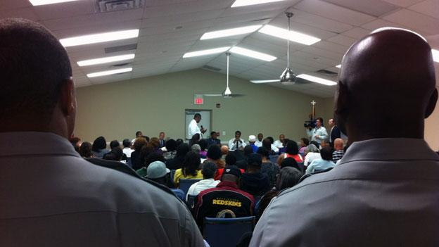 Neighbors and others that knew Amber Stanley gathered Monday, Sept. 10 at a community meeting with the police.