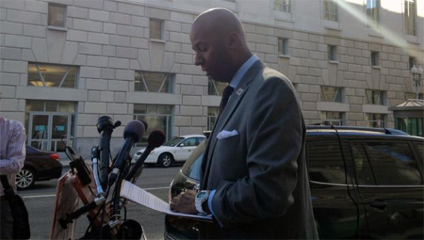 At-large D.C. Council member Michael Brown narrowly completed a ballot petition and now struggles to rebuild his campaign finances.