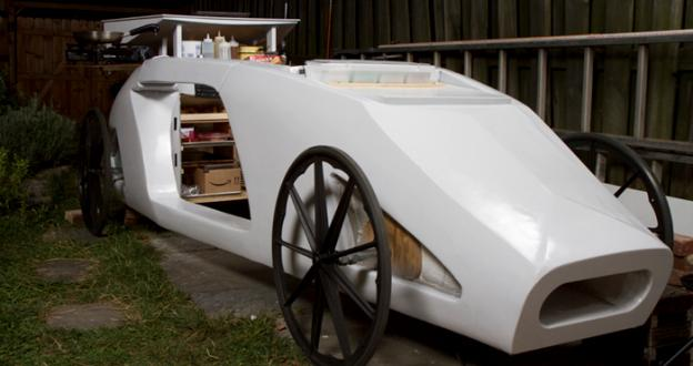 The Tactile Dinner Car is a futuristic experience for the mind and the belly.