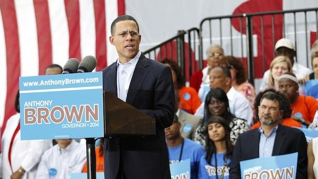 Lt. Governor of Maryland Anthony Brown speaks to supporters during a rally as he kickoff his 2014 campaign for Maryland Governor at Prince George's Community College in Largo, Maryland.