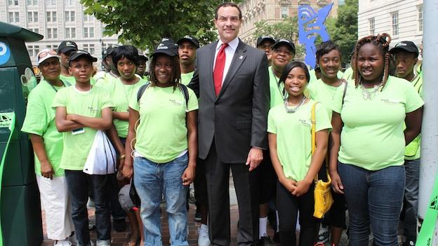 Mayor Vincent Gray says he likes to hear about issues directly from the kids in the District.