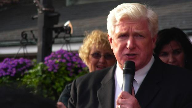 "Virginia Congressman Jim Moran speaking at a rally for Jim Webb in 2006. He was once considered a ""safe"" candidate for re-election, before the influx of Super PAC money."