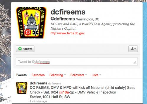 The Twitter feed for D.C. Fire and EMS is active again Thursday after a directive from Mayor Gray's office silenced it almost a month ago.