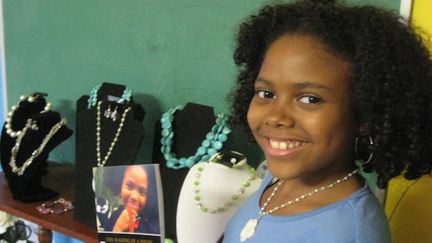 Sixth grader Gabrielle Jordan Williams started her own jewelry-making company in 2009.