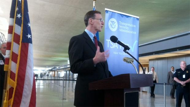 TSA administrator John Pistole lauded the PreCheck program and its dedicated line at Dulles