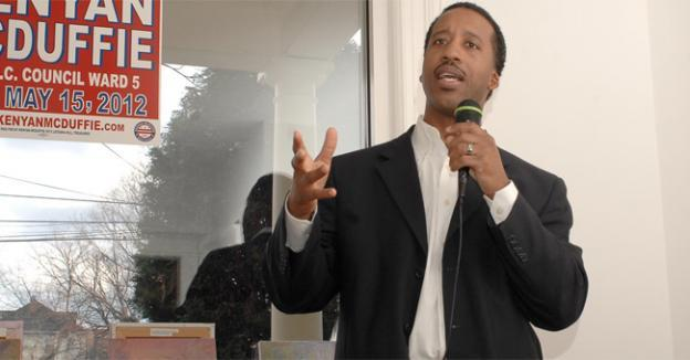 Kenyan McDuffie won a special election to fill the seat vacated by Harry Thomas Jr. last year.
