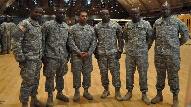 Three sets of cousins are part of the group of D.C. National Guard soldiers deploying to Afghanistan this week.