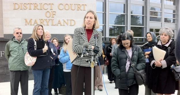 Laurie Duker, executive director of Court Watch Montgomery, offered her list of safety recommendations for domestic violence victims to Montgomery County in October.
