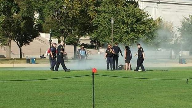 Police responded to the scene of a man attempting to set himself on fire at the National Mall.