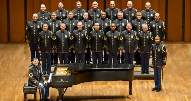 The United States Army Chorus spends the afternoon at Washington's St. John's Church.