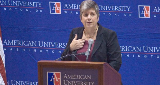 Department of Homeland Security Secretary Janet Napolitano addressed growing concern about the Obama Administration's immigration policy in a speech at American University in D.C. Wednesday.