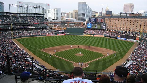 File photo: Baltimore Orioles host the Texas Rangers in 2008.