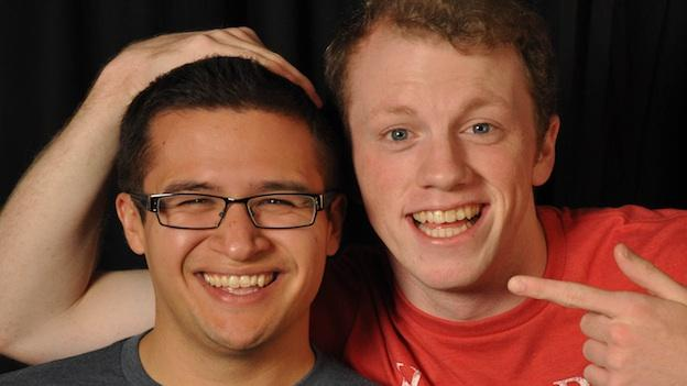 "Mikey Cafarelli and Paul Scanlan are the ""two guys"" in Two Guys... Become Interns, the new musical revue at the Black Fox Lounge."