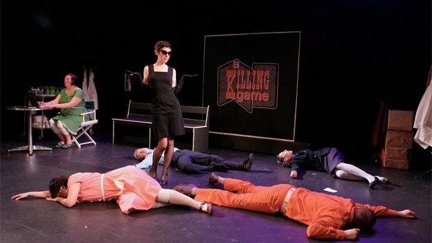 "Presented by dog & pony dc, A Killing Game poses the question, ""We can't all die, can we?"""