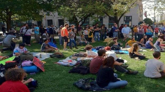 More than a hundred Occupy DC protesters gathered in McPherson Square Saturday.
