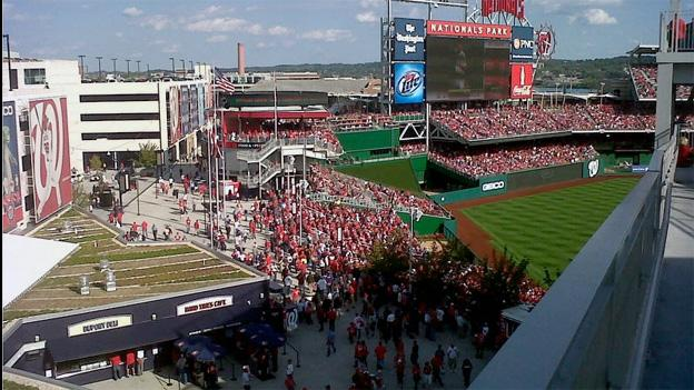 Standing-room tickets were all that was available the day of the Nats playoff game, and the attendance was record-breaking.