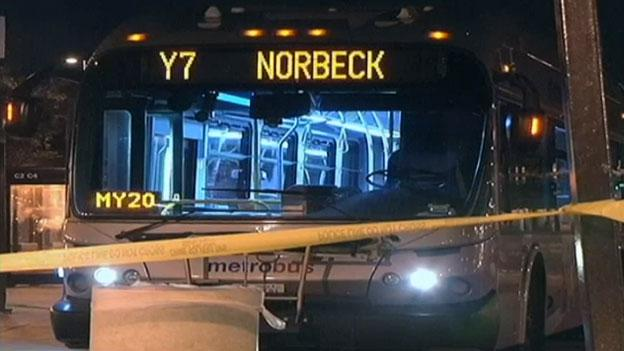 A Metrobus driver was stabbed overnight while trying to break up a confrontation between a female passenger and a man that had allegedly been exposing himself on the bus. Police have arrested the man in connection with the stabbing.
