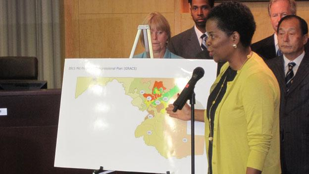 Montgomery County Council president Valerie Ervin is among those who feel the redistricting plan will hamper the fast-growing minority populations in the county.