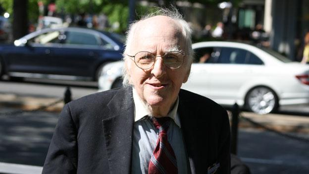 Frank Kameny, shown here at the Youth Pride Day festival in D.C. in April, died at his Washington, D.C. home Oct. 11.