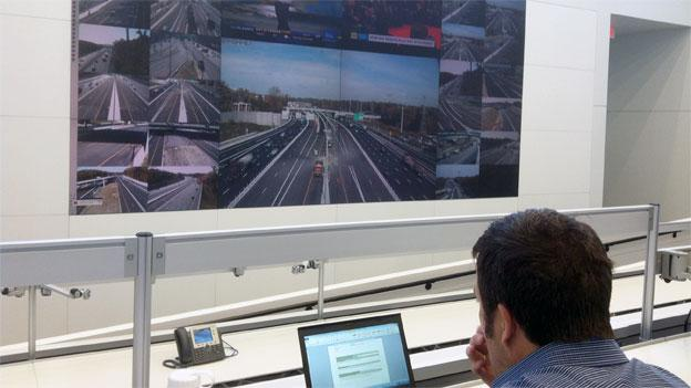 Transurban's command center allows them to monitor congestion and dynamically control toll rates.