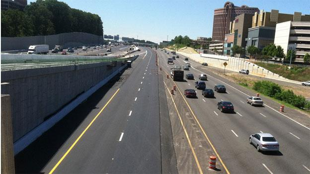 The addition of Express lanes between the Dulles Toll Road and I-95 adds four new lanes — for a price.