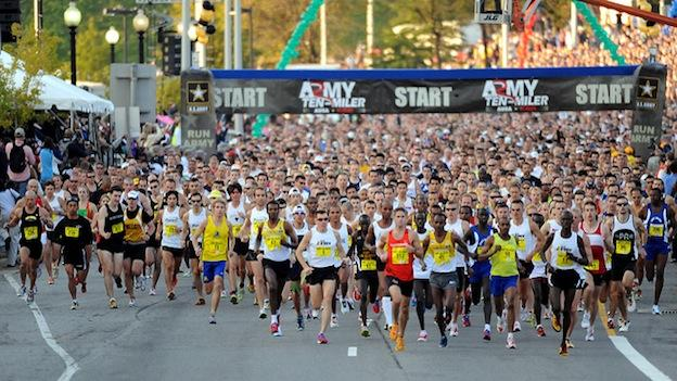 Runners at the start of the 2010 Army Ten-Miler in Washington, D.C.