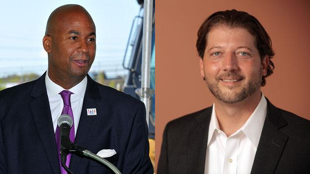 Council member Michael Brown, left and challenger David Grosso are running a tight race for the at-large seat on the D.C. Council.