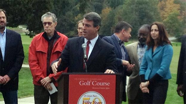 Maryland Attorney General took to the University of Maryland golf course to voice his opposition to a new development plan.