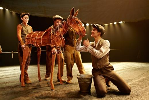 Life-sized puppets bring the stage adaptation of War Horse to life.