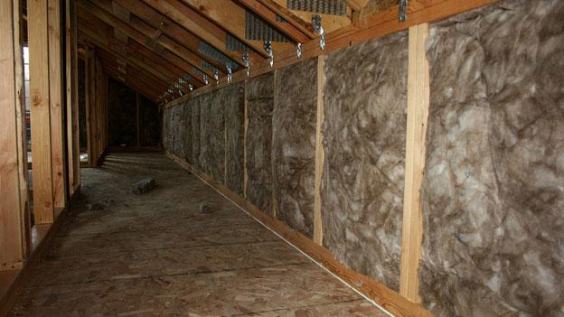 Maryland residents can get 50 percent of the cost of the installation of energy efficient insulation, like the insulation installed in this building, thanks to state subsidies.