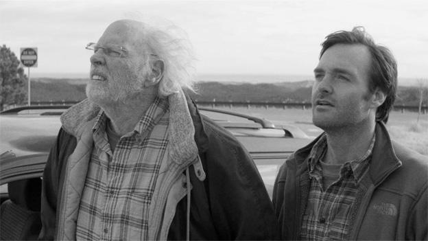 In Alexander Payne's Nebraska, a cantankerous man mistakenly believes he's won a big prize and embarks on a father-son road trip to claim it.
