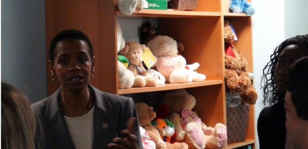 Congresswoman Donna Edwards (D-Md.) took a tour of the Domestic Abuse Center on Tuesday, hoping to shine some light on its budget needs.
