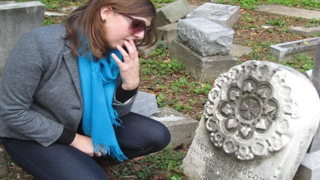 "Kim Bender, author of the blog, ""The Location,"" wants to nominate Mt. Zion Cemetery to the D.C. Preservation League's Most Endangered Places list."