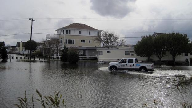 Hurricane Sandy caused major flooding in Ocean City, Md. last October.