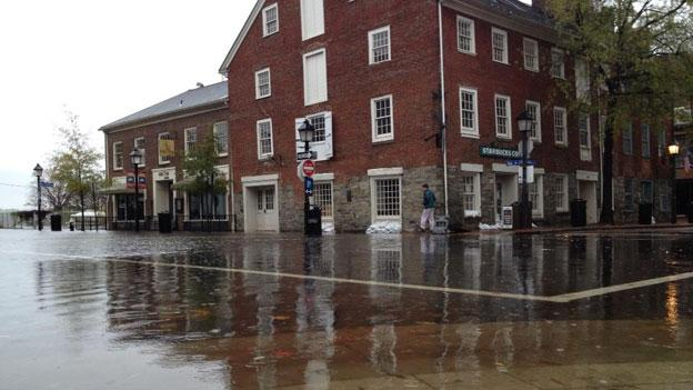 Hurricane Sandy caused severe flooding in Old Town Alexandria.